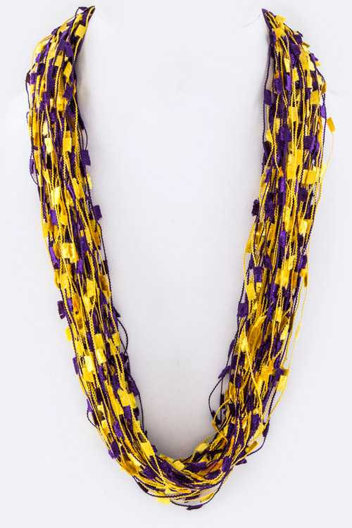 Layered Confetti Scarf Necklace