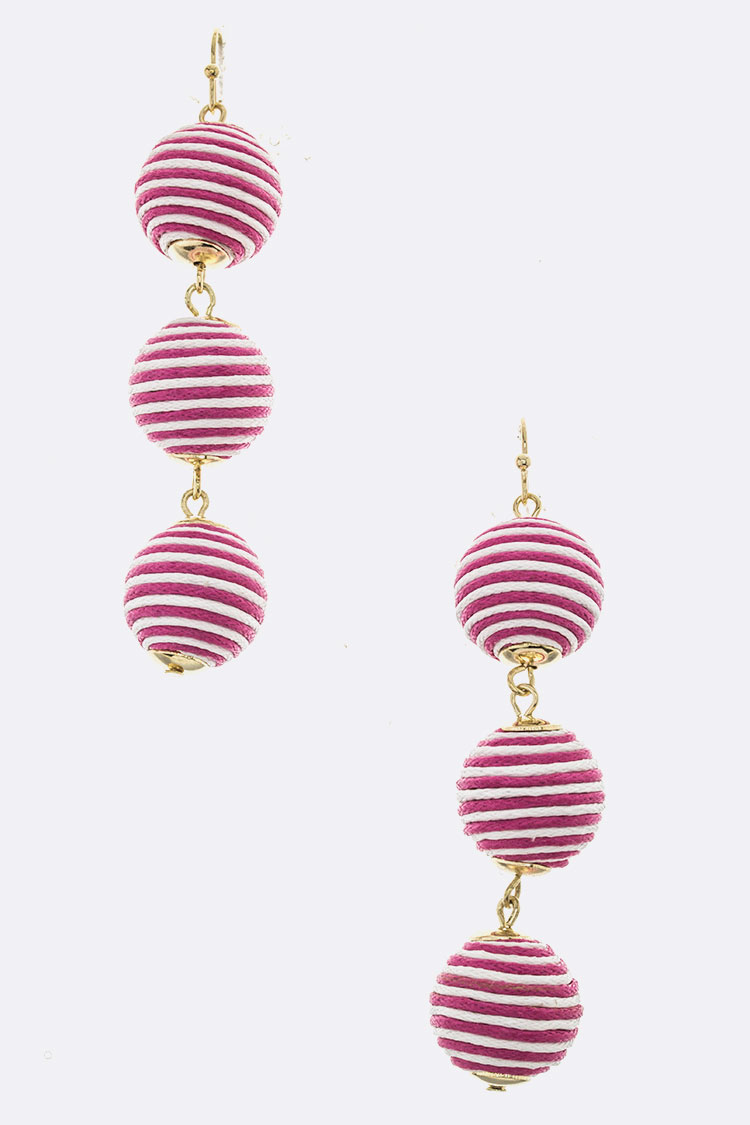 Yarn Ball Dangle Earrings