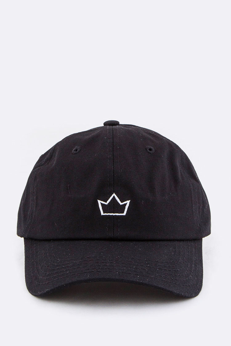 Embroidered Crown Fashion Cotton Cap