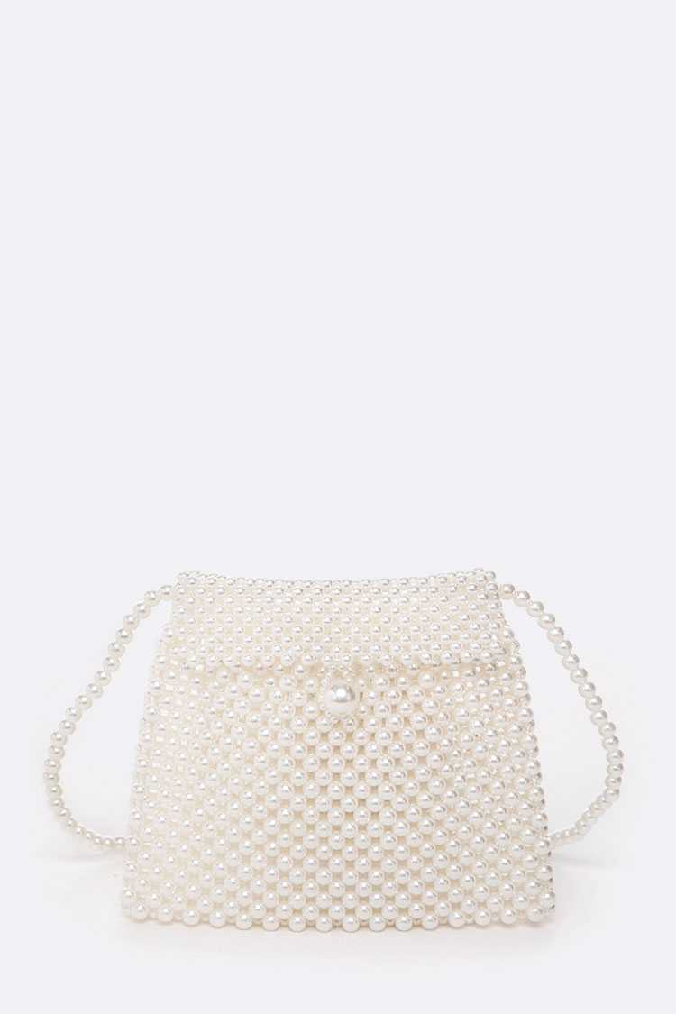 Pearl Beaded Crossbody Bag