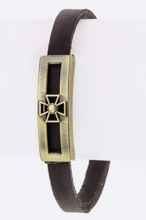 Stars Slider Leather Bracelet
