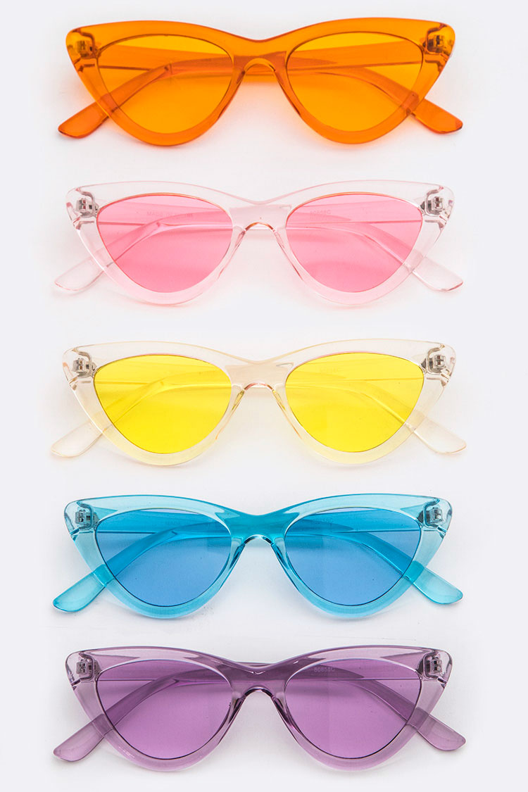 Color Cat Eye Sunglasses