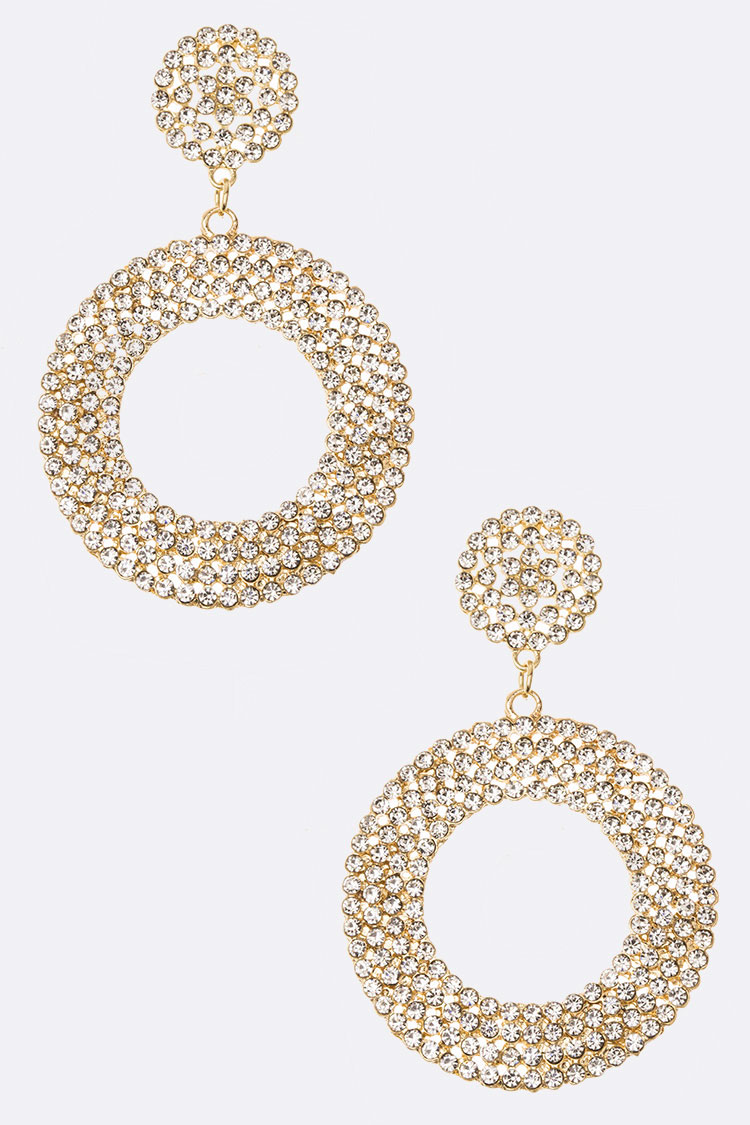 Dangle Crystal Hoop Earrings