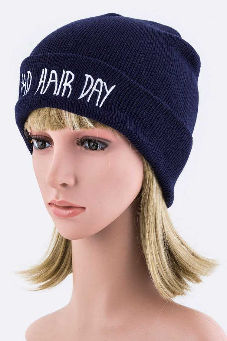 Bad Hair Day Embroidery Beanie