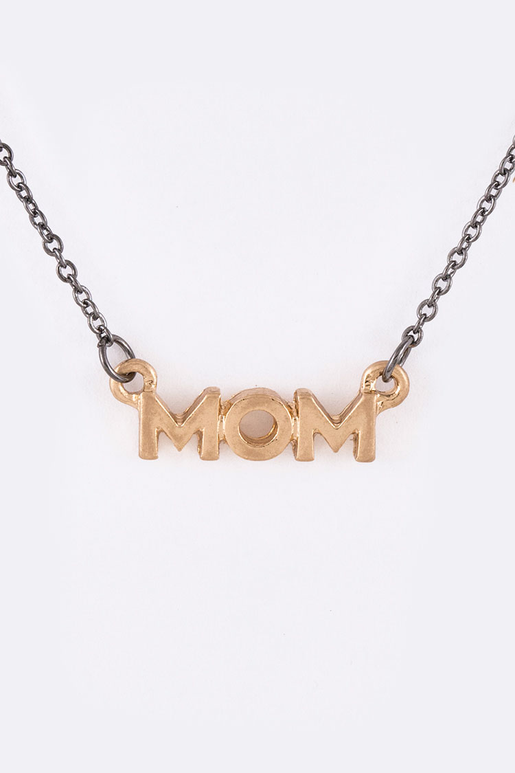 MOM Pendant Necklace