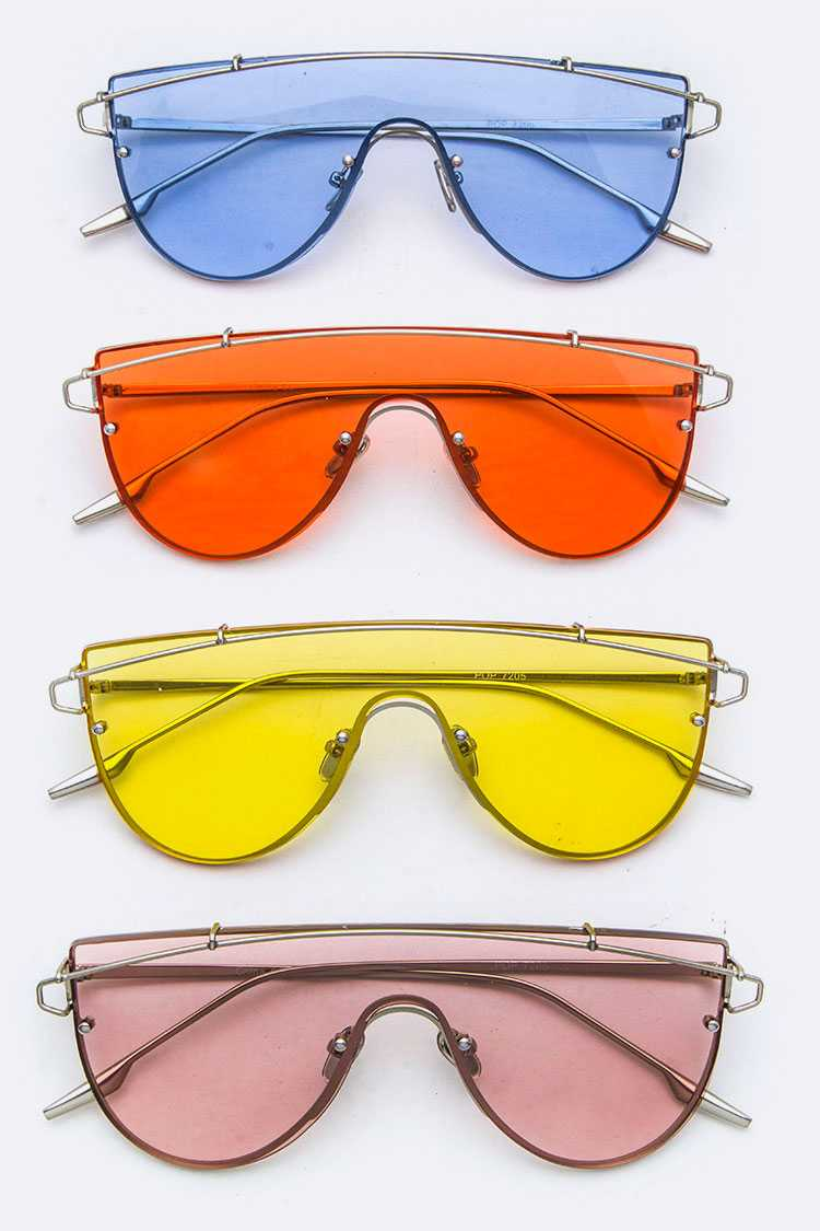 Color Lens Shield Sunglasses
