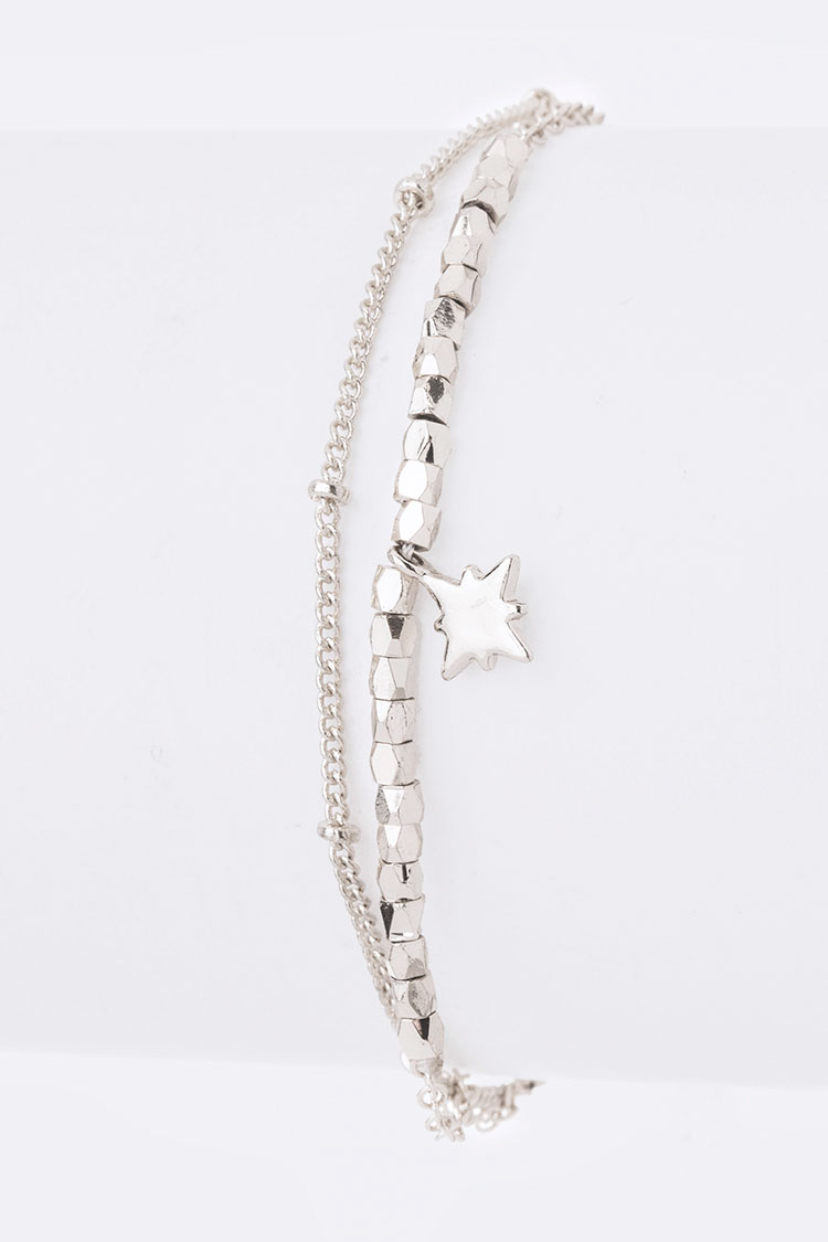 Star Charm Layered Drawstring Bracelet