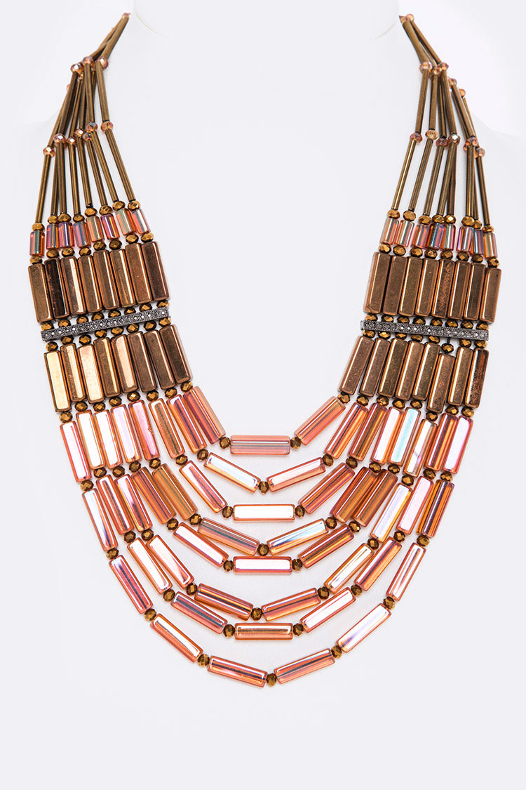 Mix Beads Layer Necklace