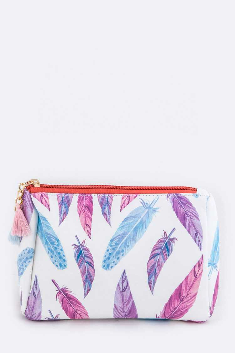 Feather Pattern Pouch