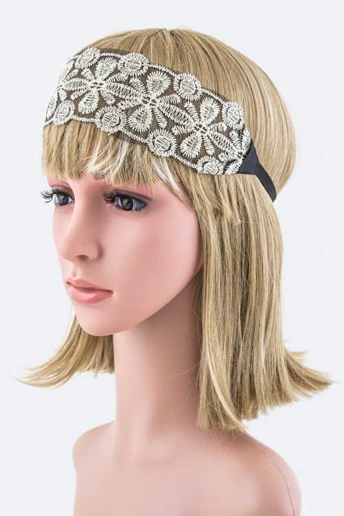 Lurex Lace Stretch Headband