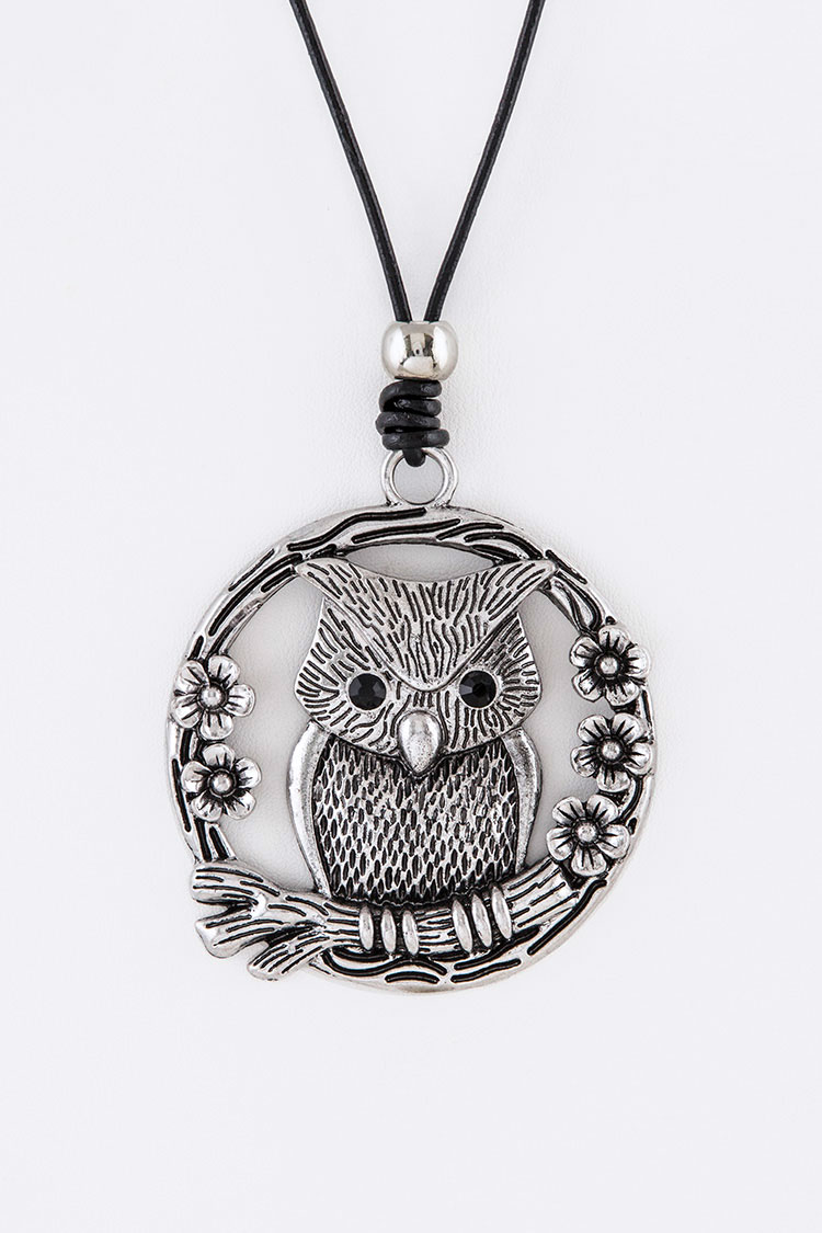 Iconic Owl Pendant Long Necklace