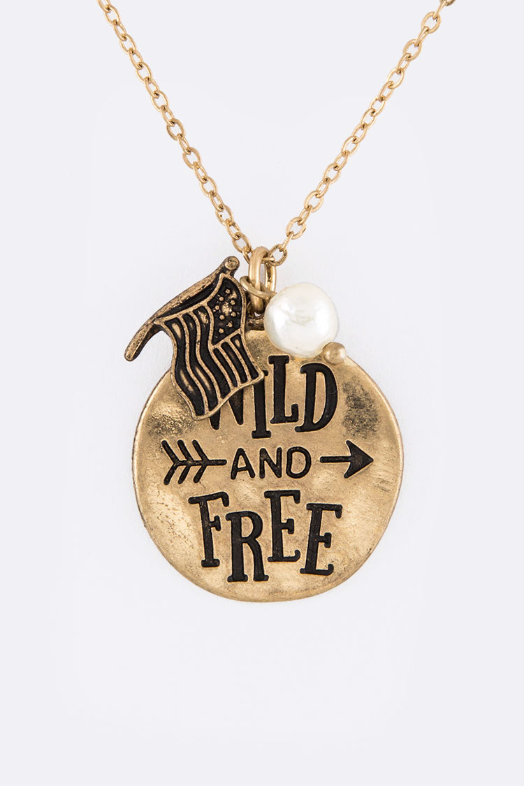 Wild And Free Pendant Necklace Set