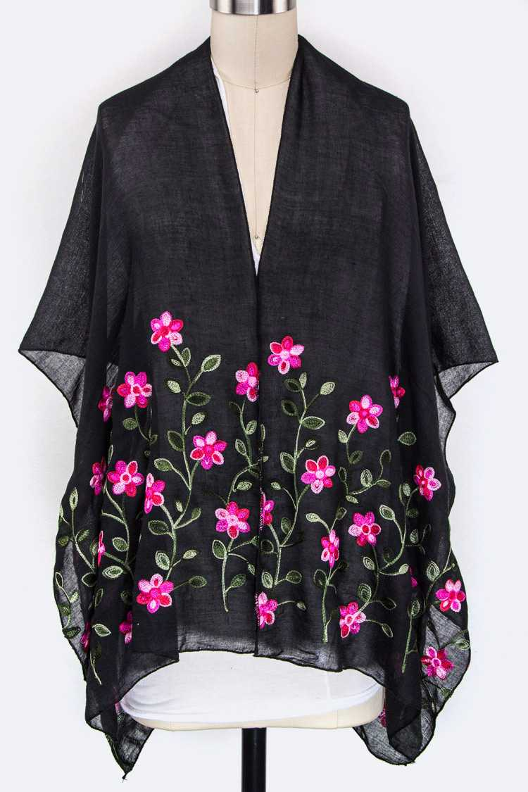 Flower Embroidery Cardigans