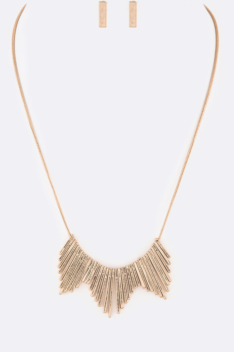 Fringe Bar Iconic Collar Necklace Set