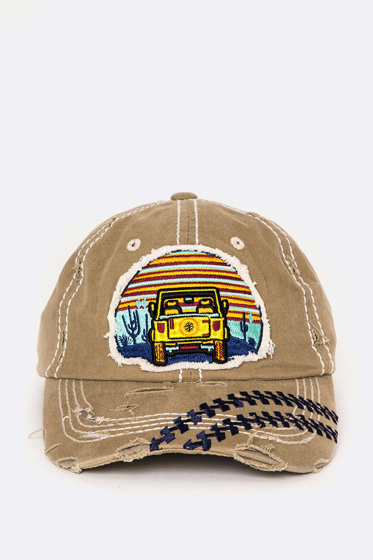 Jeep Patch Vintage Wash Cap