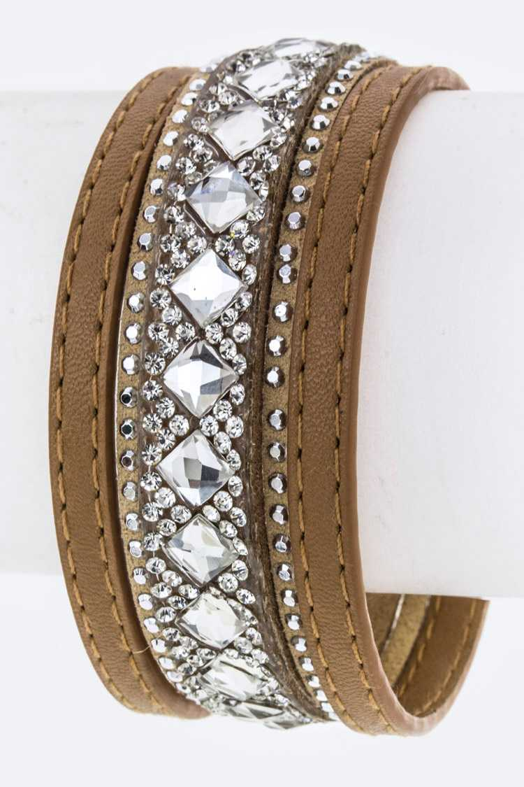 Mix Crystals Slit Layer Cuff