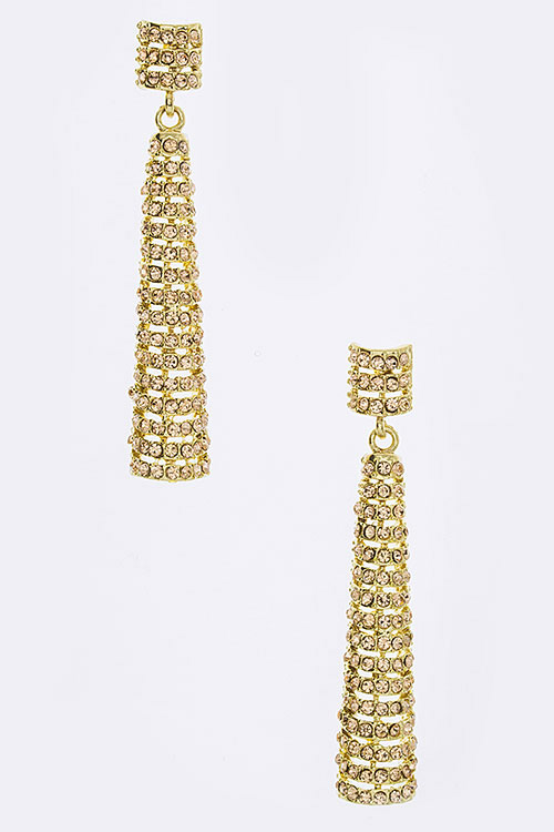 Statement Crystal Drop Earrings