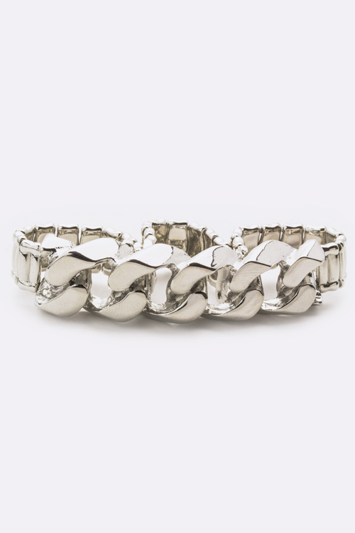 Chunky Chain Stretch Knuckle Ring - M