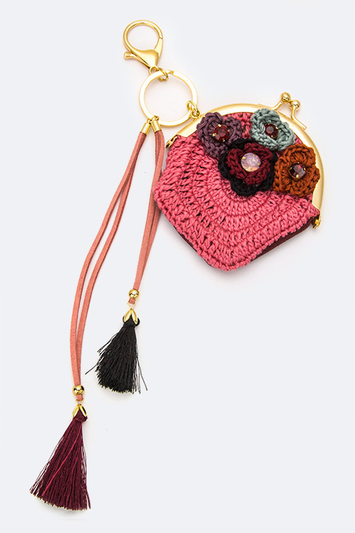 Crochet Pouch Tassels Key & Bag Charm