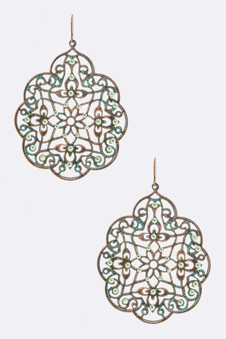 Patina Filigree Iconic Earrings