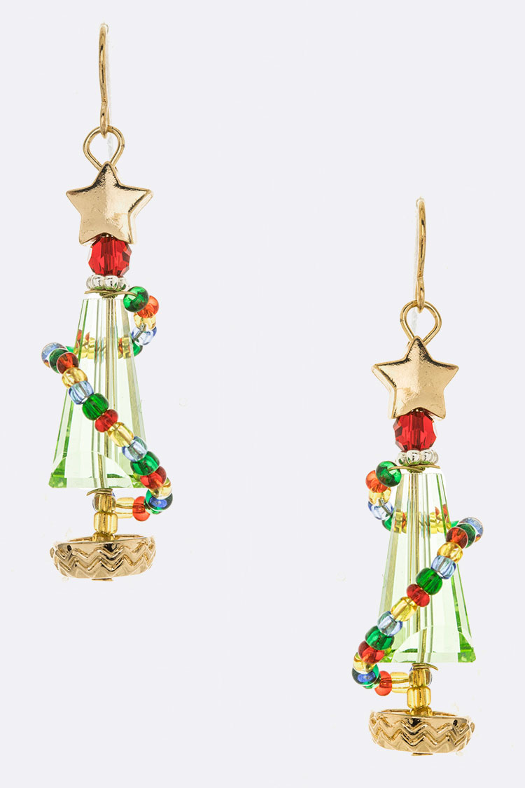 Wited Christmas Tree Iconic Earrings