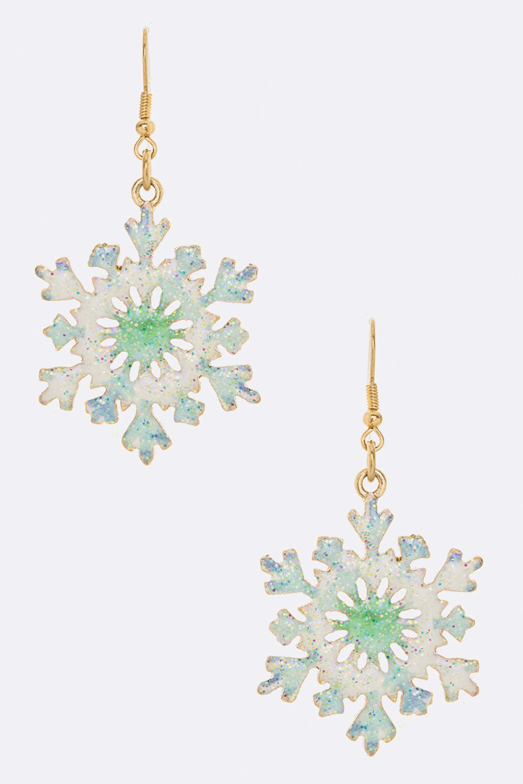 Enamel Iconic Snowflake Earrings