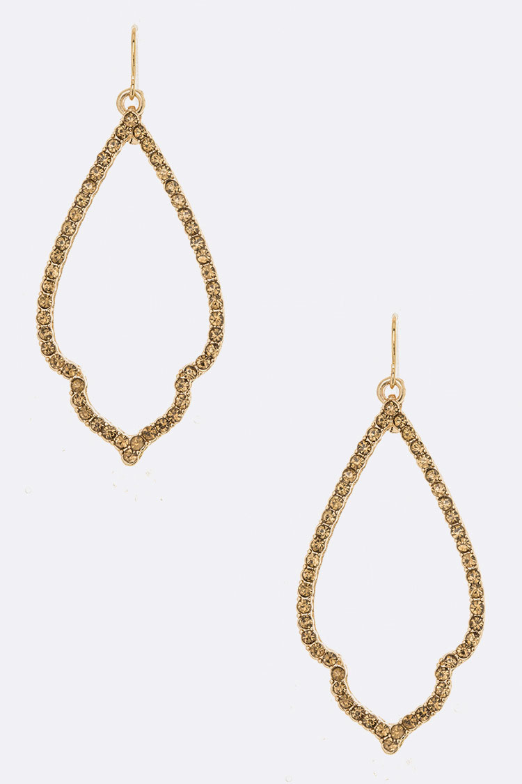 Crystal Rim Iconic Drop Earrings