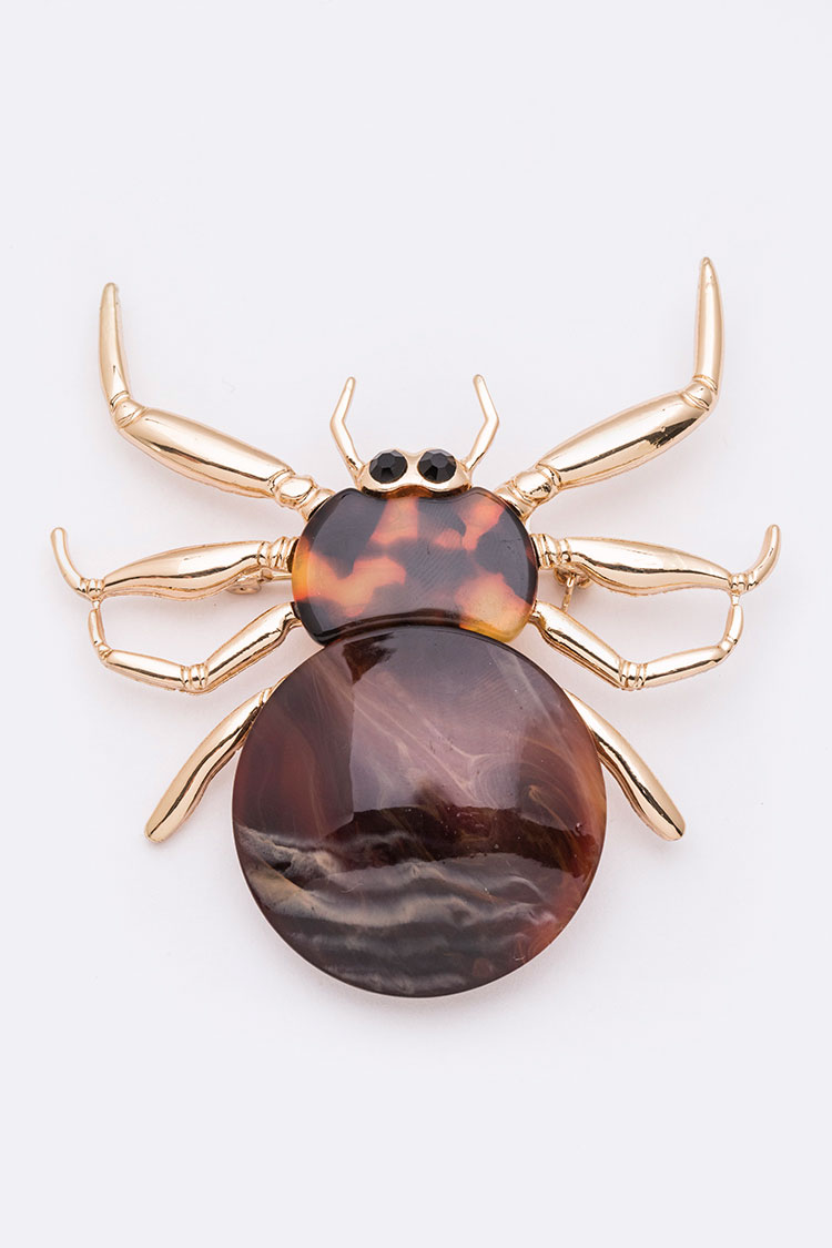 Celluloid Iconic Spider Brooch