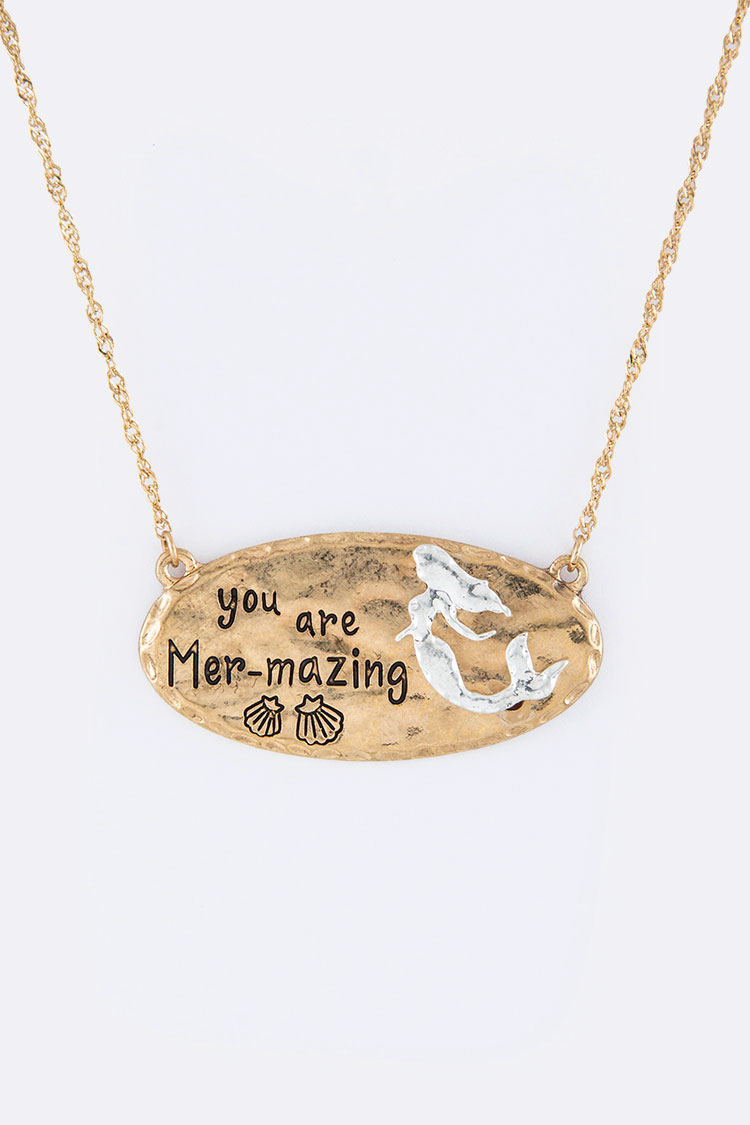 You Are Mer-mazing Pendant Necklace Set