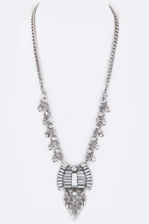 Fringe Crystals Iconic Necklace