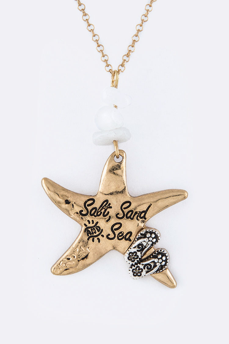 Starfish Pendant Necklace Set