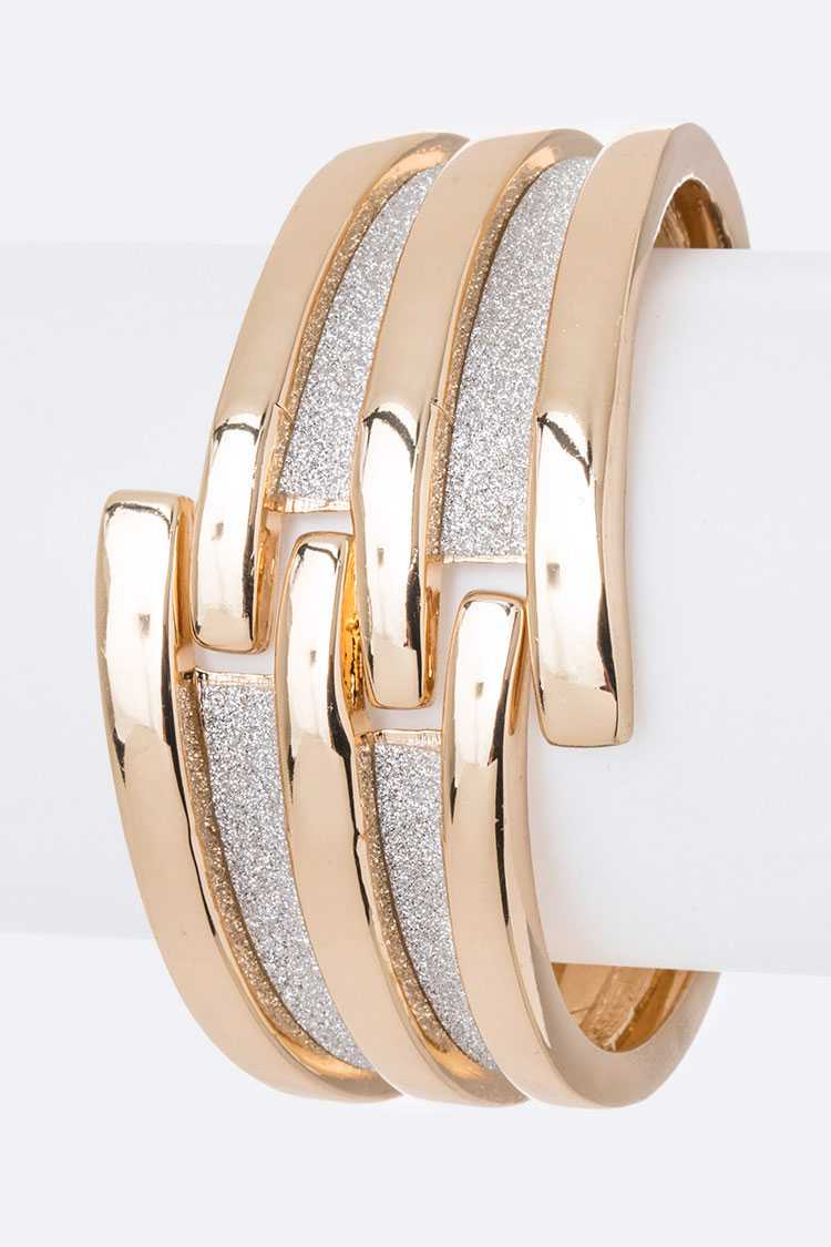 Glitter Mix Textured Iconic Bangle