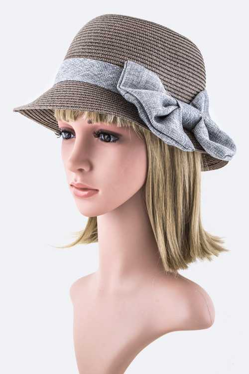 Large Bow Straw Summer Hat