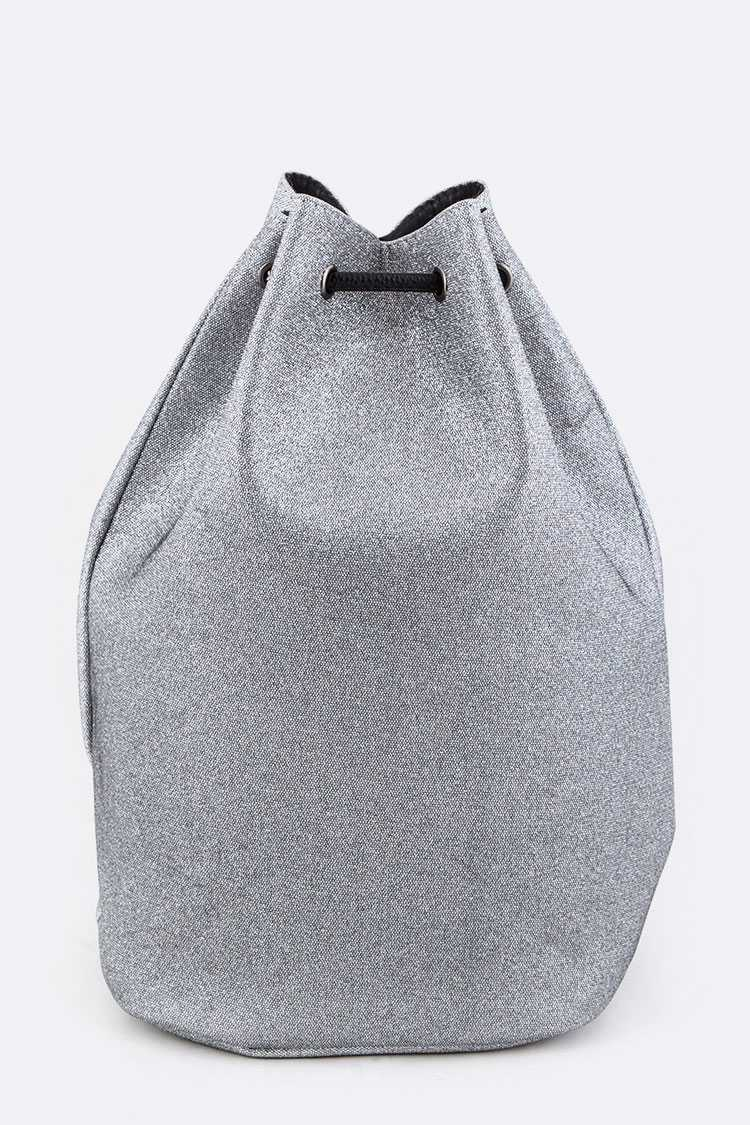 Metallic Structured Gym Bag