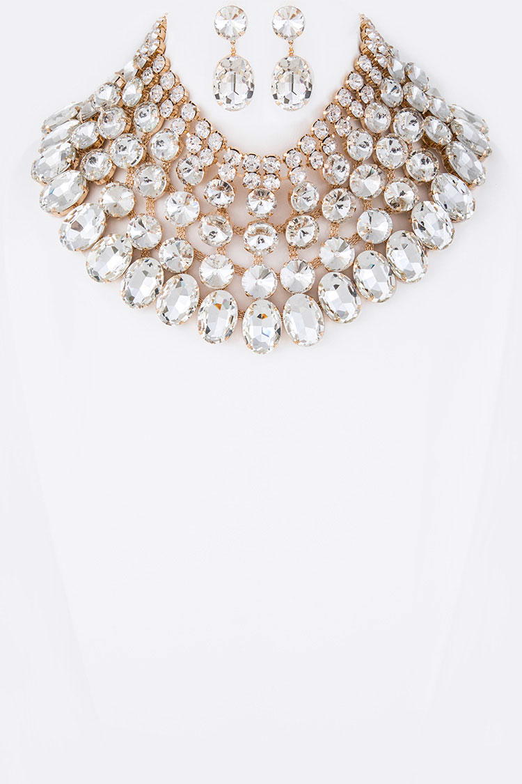 Crystal Iconic Collar Necklace Set