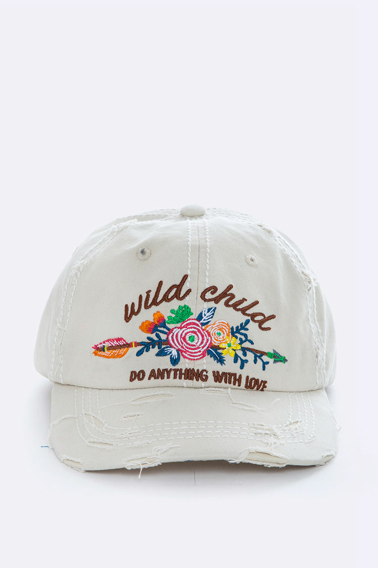 Wild Child Embroidery Cotton Cap