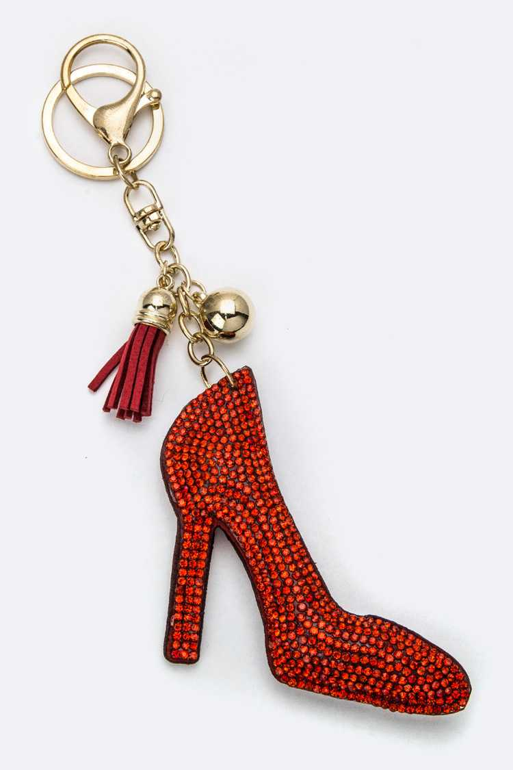Soft Crystal High Heel Key Charm