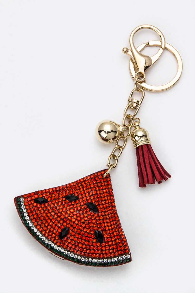 Soft Crystal Watermelon Key Charm