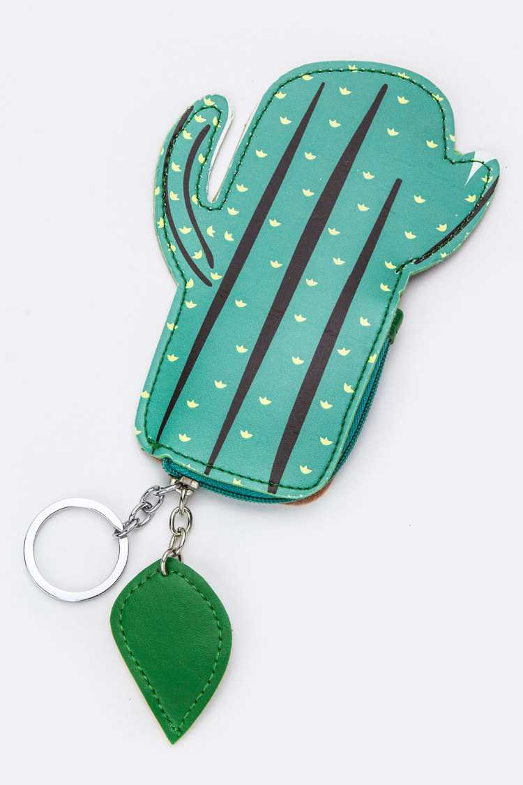 Cactus Pouch Key & Bag Charm