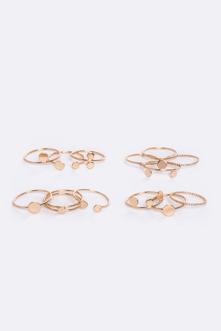 Mix Shape Rings Set
