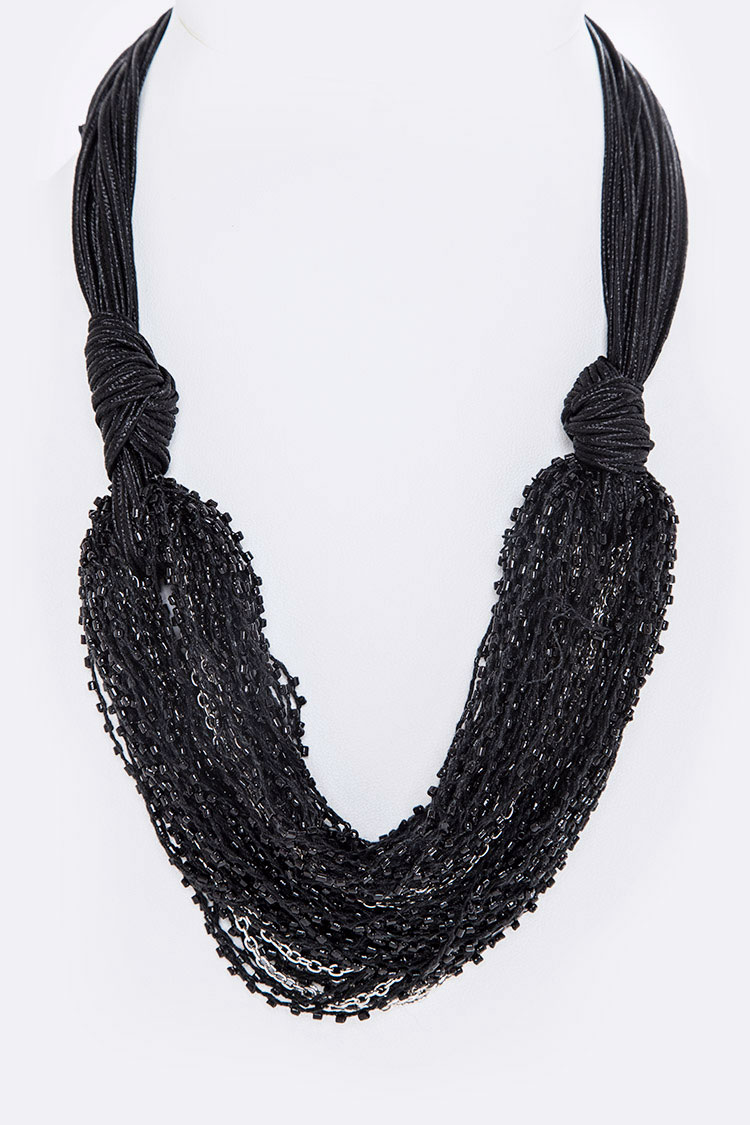 Micro Beads Layer Necklace