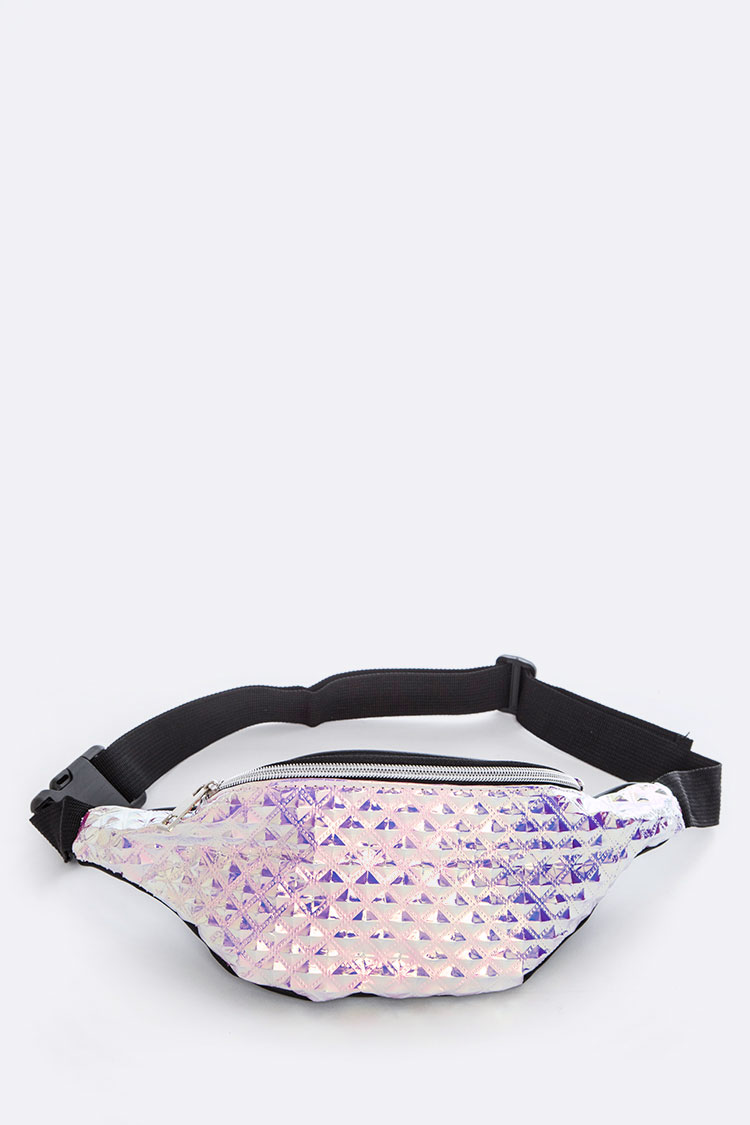 Embossed Holographic Iconic Fanny Pack