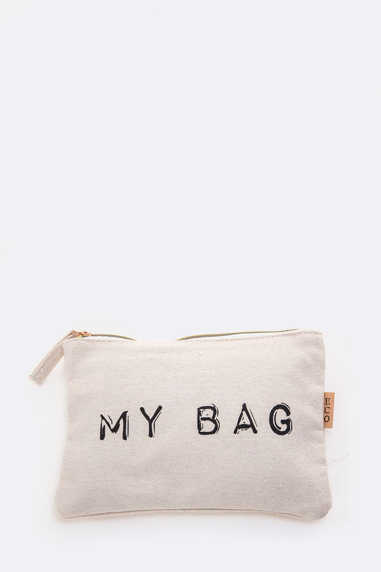 My Bag Message Canvas Pouch