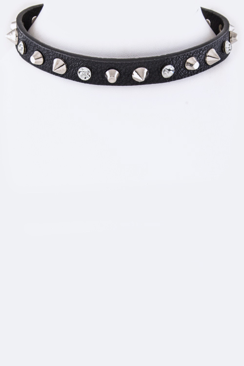 Mix Studs Choker Necklace