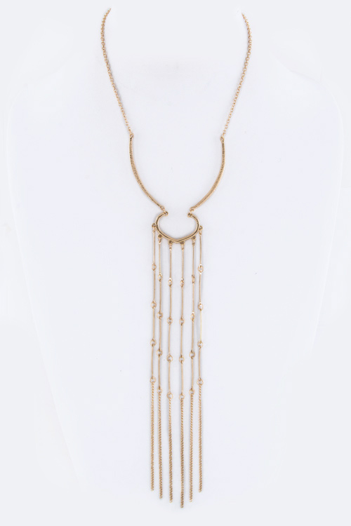 Iconic Long Chain Tassel Necklace