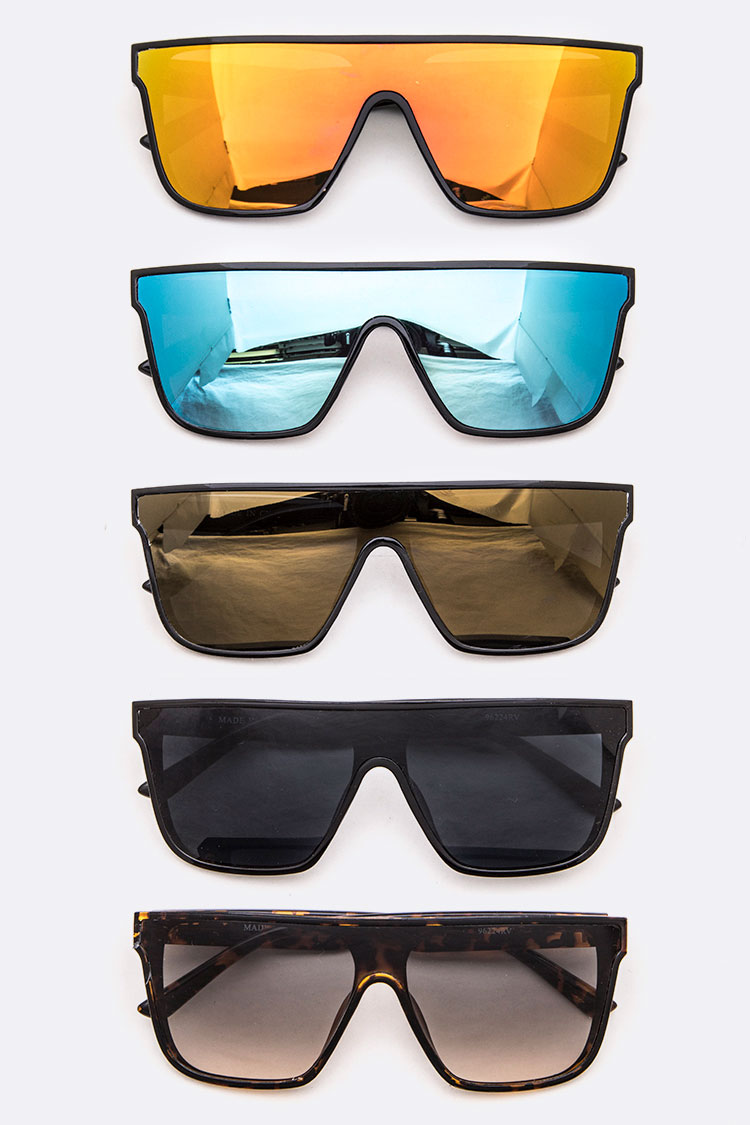Shield Inspired Oversize Sunglasses