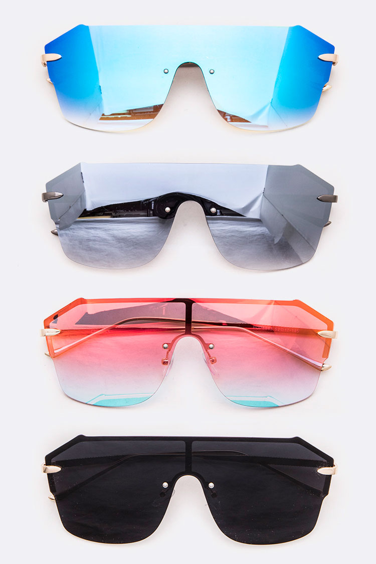 Mirror Tint Shield Inspired Sunglasses