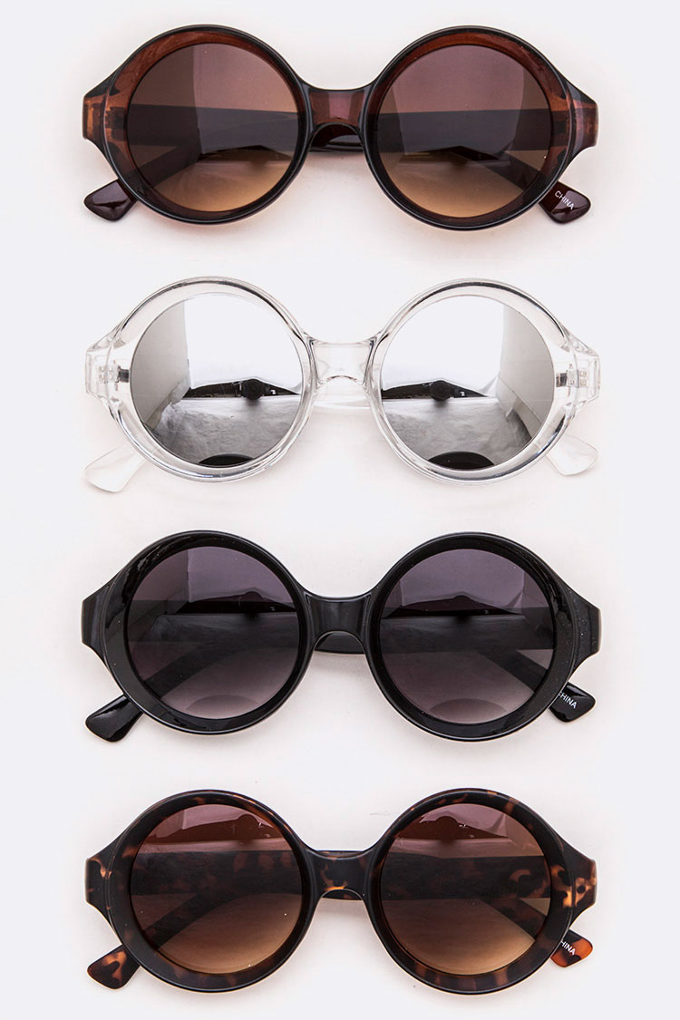 Mix Tint Round Sunglasses Set