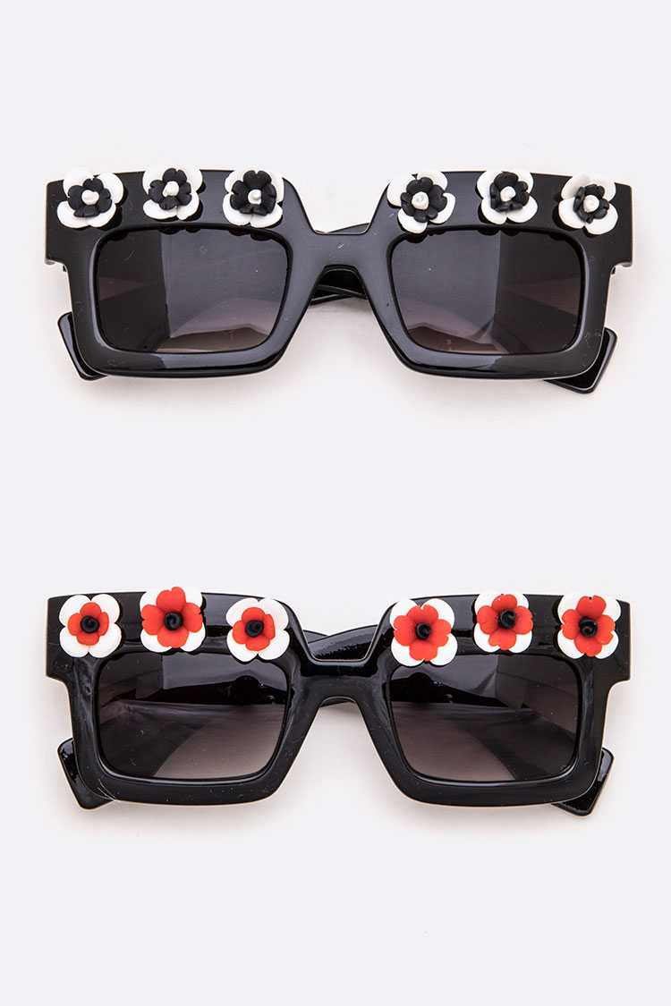 Flower Trim Iconic Sunglasses Set