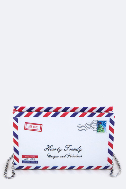 Air Mail Envelope Design Box Clutch